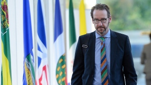 Gerald Butts, principal secretary to Prime Minister Justin Trudeau, arrives during the First Ministers Meeting in Ottawa on Tuesday, Oct. 3, 2017. Butts has resigned amid allegations that the Prime Minister's Office interfered to prevent criminal prosecution of SNC-Lavalin. THE CANADIAN PRESS/Sean Kilpatrick