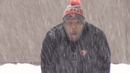 BC Lions coach conquers fear, learns to skate