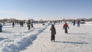 Skating was back on Wascana Lake at Waskimo in 2019.