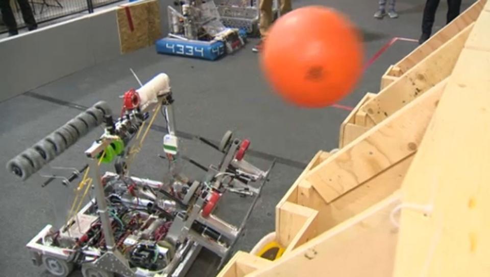 Robot accomplishing one of the Deep Space tasks