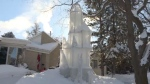 Retired architect Don Greer has created an ice castle inspired by Frozen.