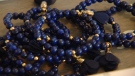 The bracelet being taken to the Oscars gifting suite is made with a semi-precious stone called lapis lazuli that is supposed to aid relationships, memory and communication.