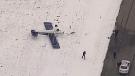 Plane flips on landing in Pitt Meadows