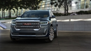 The 2020 GMC Acadia Denali is pictured in this undated handout photo. (GMC/AFP)
