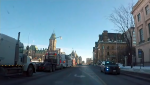 A convoy on energy supporters arrived in Ottawa on Tuesday for a rally at Parliament Hill.