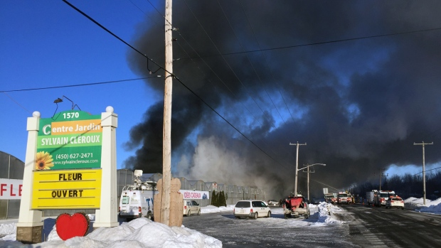 Fire damages greenhouse operation of Quebec's largest flower producer