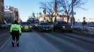 "The ""United We Roll"" convoy arrives in Ottawa. (CATHERINE LATHEM/CTV OTTAWA)"