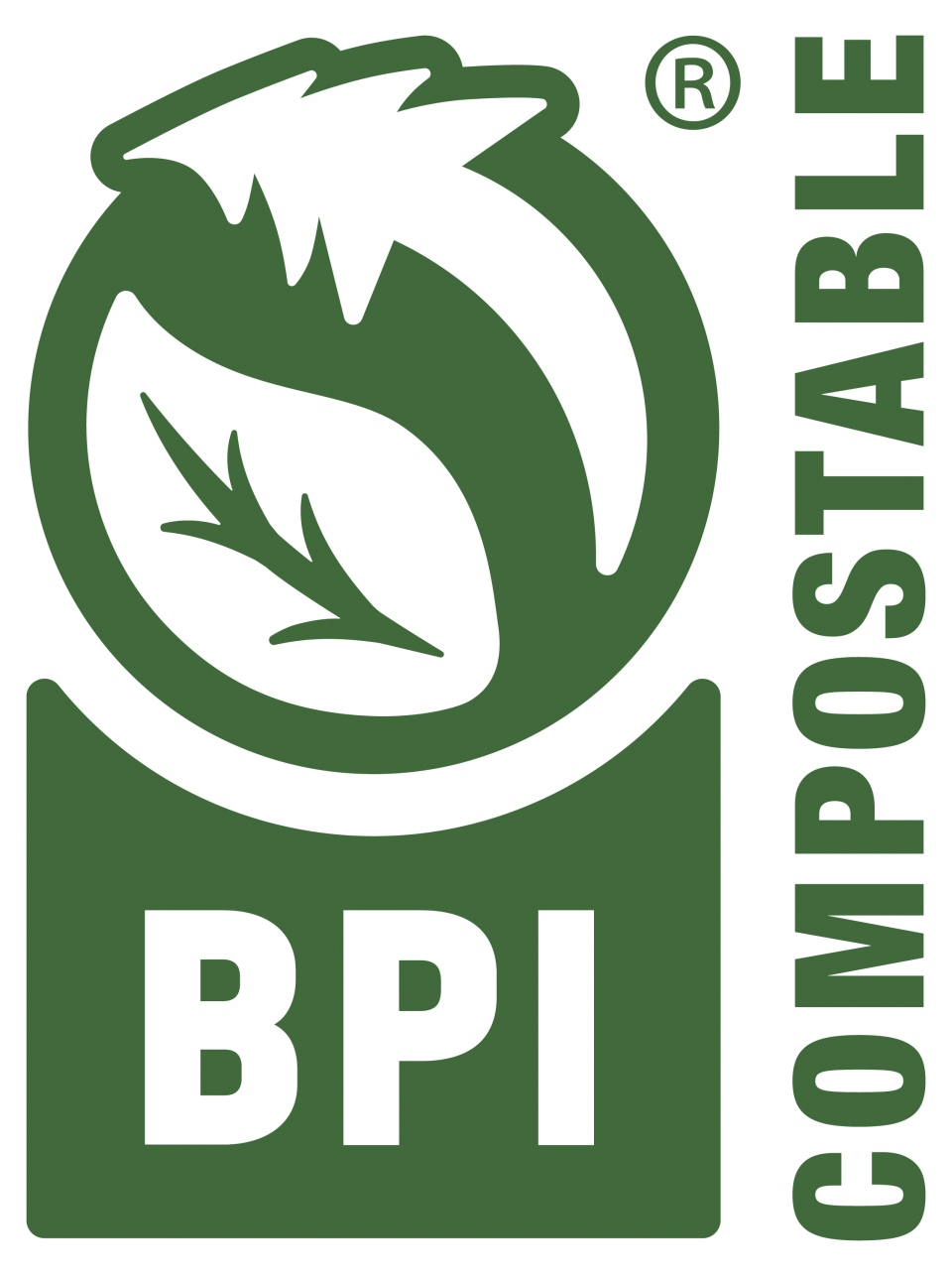 This photo provided by the Biodegradable Products Institute shows the official, recently updated BPI Certification Logo which tells consumers the product or package has been independently tested and verified and is approved for composting. (Biodegradable Products Institute via AP)