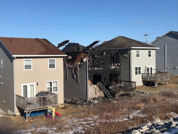 Police have confirmed that seven children from the same family have died in a house fire in Halifax. (Todd Battis/CTV News)