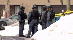 Members of Toronto police's emergency task force at the scene of a shooting on Feb. 19, 2019.
