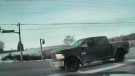 Dashcam image of a driver asleep at the wheel in the intersection of Green Lane in East Gwillimbury, Ont. on Feb. 11, 2019 (YouTube: York Regional Police)