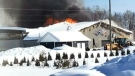 First Nation loses new arena in fire