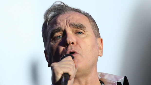 British singer and songwriter Morrissey performs at the Vive Latino music festival in Mexico City, Saturday, March 17, 2018. (THE CANADIAN PRESS/AP /Marco Ugarte)