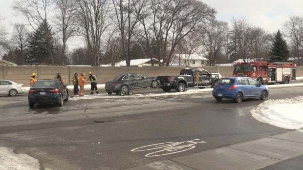 Three-car crash snarls traffic on Wonderland Road | CTV News London