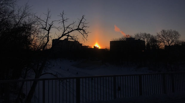The sun also rises over the Assiniboine. Photo by Paul Friesen.