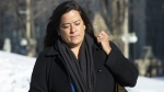 Liberal MP Jody Wilson-Raybould leaves the Parliament buildings following question period in Ottawa, Tuesday, Feb. 19, 2019. (THE CANADIAN PRESS/Adrian Wyld)