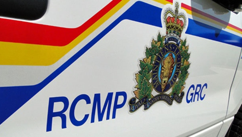 Four people face charges after an RCMP unit was rammed Sunday morning in Innisfail, Alta.
