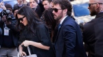 Meghan, Duchess of Sussex, arrives for her baby shower at the Mark Hotel on Tuesday, Feb. 19, 2019, in New York. (AP Photo/Kevin Hagen).