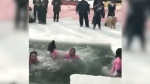Icy plunge for a cause