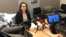 Vancouver Coastal Health's Dr. Althea Hayden speaks at a news conference on a local measles outbreak on Tuesday, Feb. 19, 2019. (Shannon Paterson / CTV Vancouver