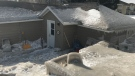 A Stoney Creek home is seen encased in mounds of ice on Feb. 19, 2019. (Brandon Rowe)