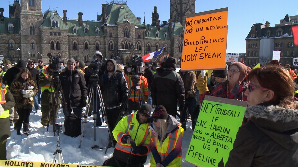 Organizers of Tuesday's rally in Ottawa said the event was peaceful, while counter protestors called it frightening.
