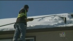 Attacking ice and snow on roofs