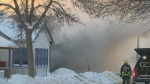 Emergency crews were called to the fire shortly before 3 p.m. Tuesday.
