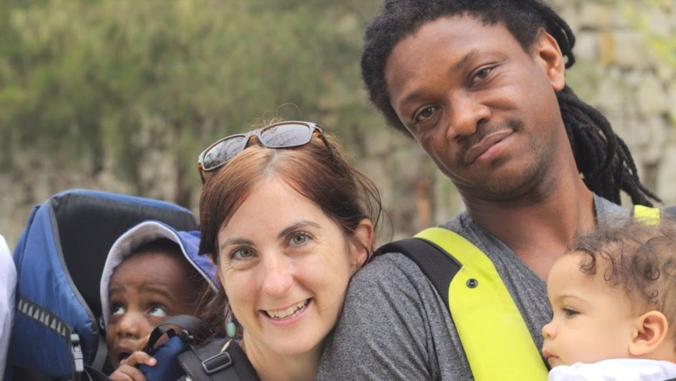 Meaghan Balzer and Will Calixte with their children Iyanu and Deo. (Meaghan Balzer)