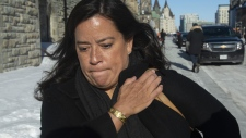 Liberal MP Jody Wilson-Raybould leaves the Parliament buildings following Question Period in Ottawa, Tuesday February 19, 2019. THE CANADIAN PRESS/Adrian Wyld