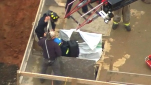 Worker rescued from hole 35 feet underground