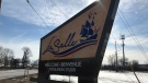 The Town of LaSalle sign in LaSalle, Ont., on Tuesday, Feb. 19, 2019. (Rich Garton / CTV Windsor)