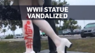 Statue of iconic WWII kiss vandalized