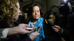 Liberal MP Jody Wilson-Raybould arrives to a caucus meeting on Parliament Hill in Ottawa on Wednesday, Feb. 20, 2019. (THE CANADIAN PRESS/Sean Kilpatrick)