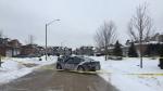 Barrie police investigate a murder on Tues, Feb. 19, 2019 (CTV News/Steve Mansbridge)