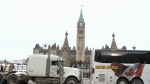 United We Roll convoy on Parliament Hill in Ottawa, ON.