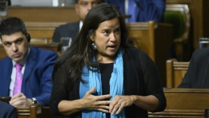 Liberal MP Jody Wilson-Raybould speaks in the House of Commons on Parliament Hill in Ottawa on Feb. 20, 2019. THE CANADIAN PRESS/Sean Kilpatrick