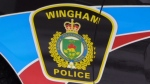 A Wingham Police Service cruiser is seen in Wingham, Ont. on Wednesday, Feb. 20, 2019. (Scott Miller / CTV London)