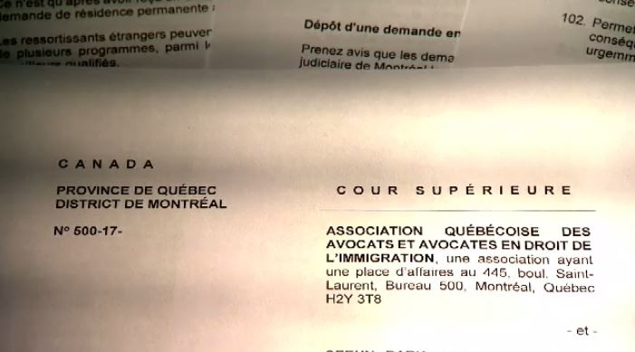 Quebec immigration lawsuit
