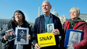 Abuse victims upset pope was not at meeting