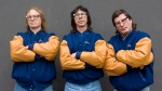 The Hanson Brothers, actors in the Slapshot movie series, (left to right) Dave Hanson, Steve Carlson and Jeff Carlson pose for a photo in Toronto, on Monday November 24, 2008. THE CANADIAN PRESS/Chris Young