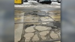 Potholes on Church Street