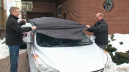 Steven and Ken Paisley say that their new windshield covers caused damage to their vehicles.