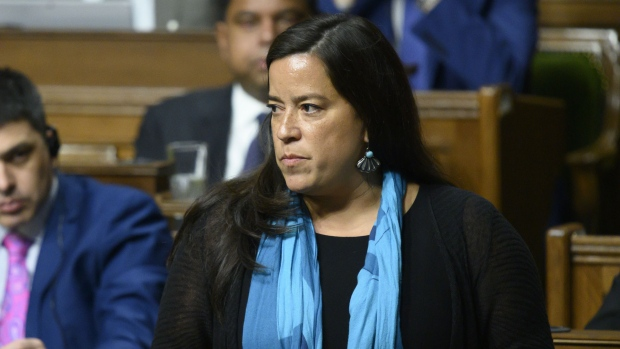 Liberal MP Jody Wilson-Raybould speaks in the House of Commons on Parliament Hill in Ottawa on Feb. 20, 2019. (THE CANADIAN PRESS / Sean Kilpatrick)