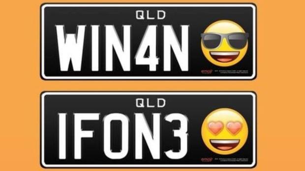 emoji licence plates