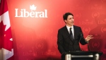 Prime Minister Justin Trudeau delivers remarks to Liberal supporters in Halifax on Wednesday February 20, 2019. Trudeau visited friendly Nova Scotia territory on Wednesday evening to thank fundraisers and recall happier times, as controversies rage in Ottawa. (THE CANADIAN PRESS/Riley Smith)