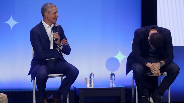 Barack Obama tells boys: 'You don't need eight women around you twerking'