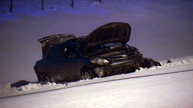 One person has died after a crash on the Anthony Henday on Thursday.