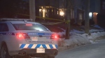 Halifax Regional Police respond to a robbery and stabbing in Dartmouth on Feb. 21, 2019.
