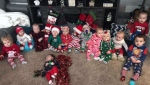 Babies belonging to some of the two dozen new parents who work at St. Joseph's Hospital in Estevan, Sask. are seen in this undated photo.(CTV Regina)